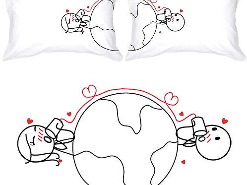 Μαξιλαροθήκες με στάμπα για ζευγάρια
