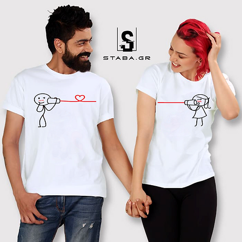 T-shirt με στάμπα για ζευγάρια