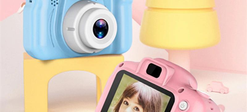 Μίνι Ψηφιακή Φωτογραφική Μηχανή Ρόζ / Μπλέ – Kids Camera Toy για Παιδιά