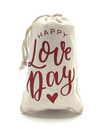 Happy Love Day Muslin Bag