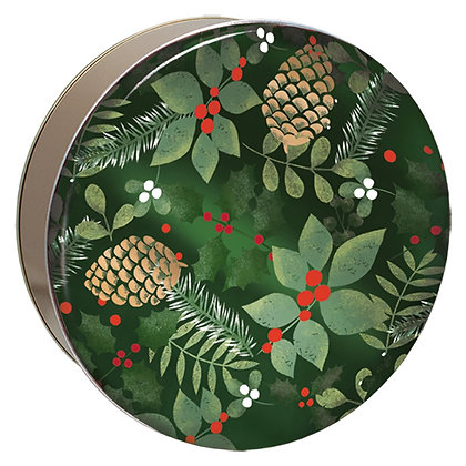 Holly and Pinecone Tin