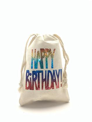 Happy Birthday Muslin Bag