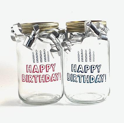 Birthday Mason Jar