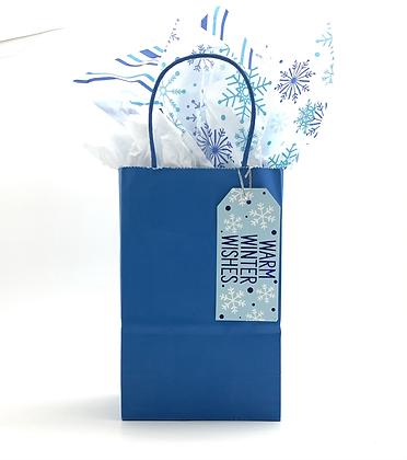Blue Snow Gift Bag
