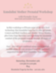 Kundalini Mother Prenatal Workshop flyer