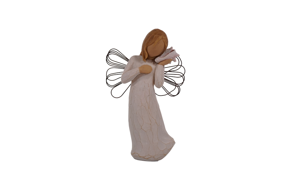 Angel with Sea Shell Figure