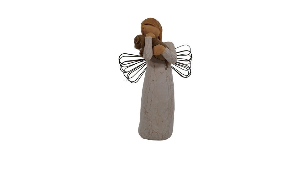 Angel with Puppy Figure