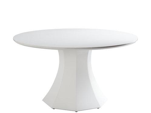 TABLE RONDE 55'' LAQUÉ BLANCHE