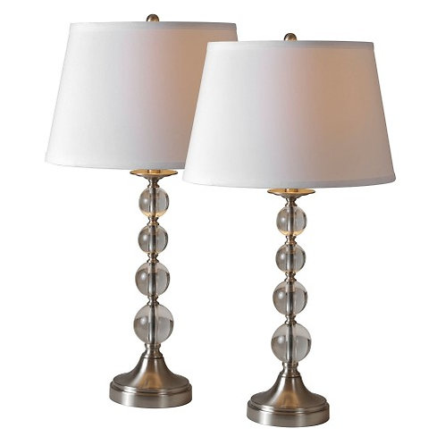 LAMPE CHROME ET BAT JOUR BLANC /ENSEMBLE DE DEUX