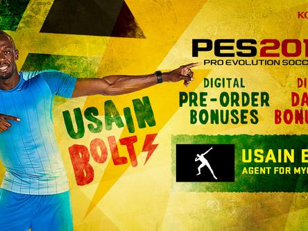 Usain Bolt announced as new PES ambassador.