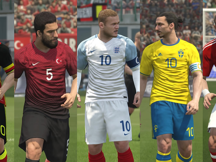 PES World PES 2017 European national teams update.
