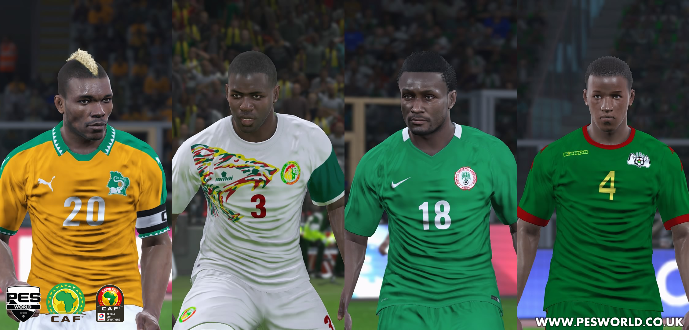 PES World AFCON / African national teams pack out now