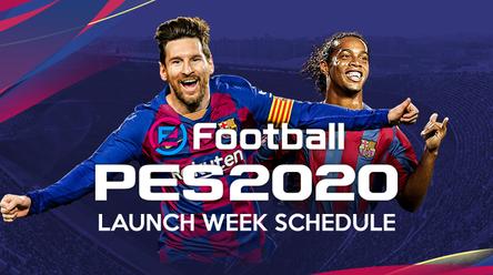 eFootball PES 2020 launch week schedule.