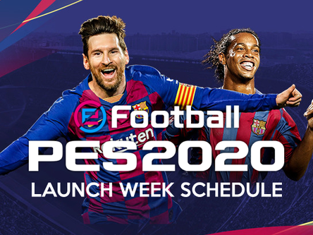 eFootball PES 2020 launch week schedule.