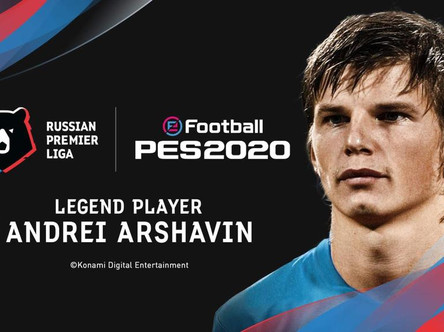 Andrei Arshavin announced as an exclusive eFootball PES 2020 legend.