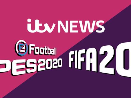 eFootball PES 2020 & FIFA 20 head to head: Nico Di Maria talks to ITV News.