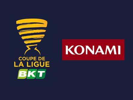 Konami signs on as major Coupe de La Ligue BKT sponsor.