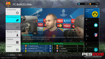 PES 2018 new modes and features