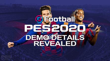eFootball PES 2020 Demo details / teams revealed.