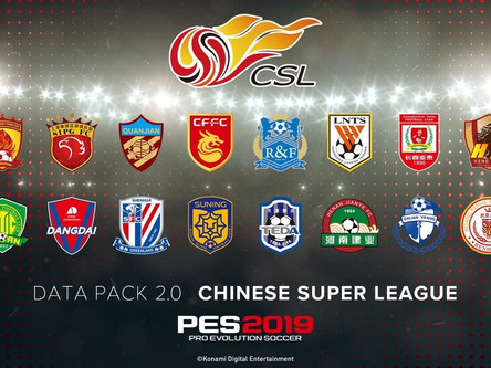 Chinese Super League coming to PES 2019 + Data pack 2 details.