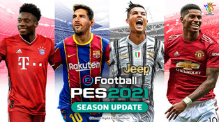 eFootball PES 2021 Season Update cover art / Club editions now available to pre-order.