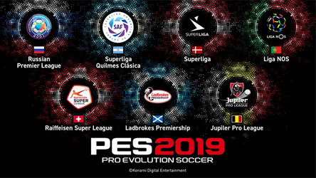 7 new leagues revealed for PES 2019