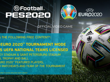 UEFA Euro 2020 DLC details revealed. Limited edition PES 2020 cover announced.