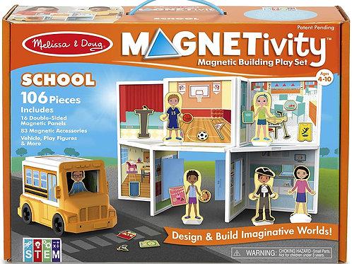 Magnetic Building Set - School