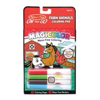Farm Animals Magic Colouring Pad with Four Markers