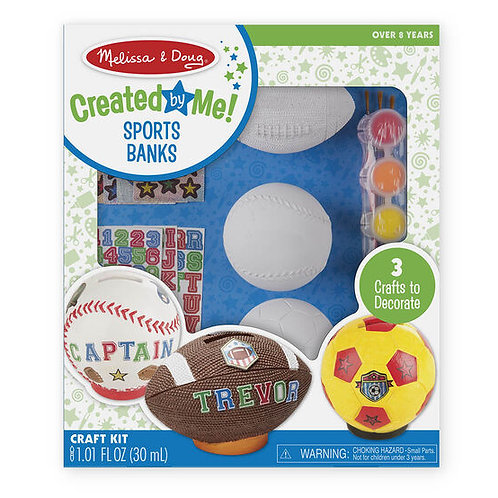 Created by Me! Sports Banks Craft Kit