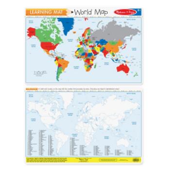 World Map - Learning Mat