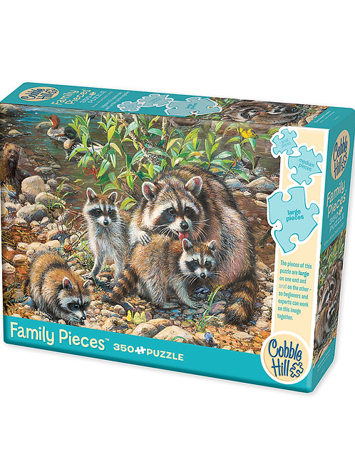 Cobble Hill 350 piece Raccoon Family