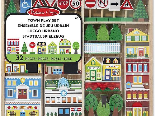 Town Play Set (Melissa & Doug Wooden Toys)