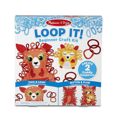 Loop It! Cuddly Kangaroos Beginner Craft Kit