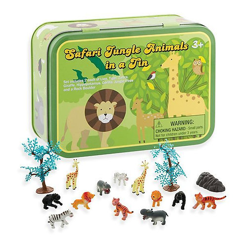 Safari Animals in a Tin