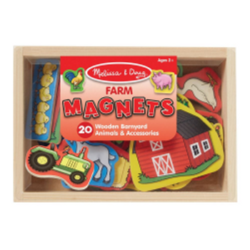 Wooden Farm Magnets (20 pieces)