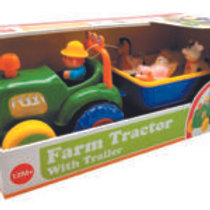 Lights & Sounds Farm Tractor with Trailer