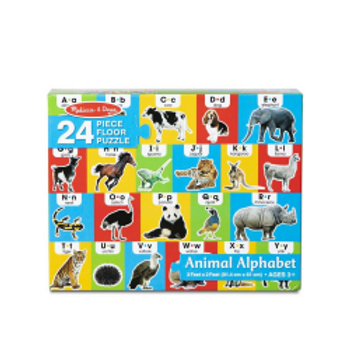 Animal Alphabet Floor Puzzle (24 pieces)
