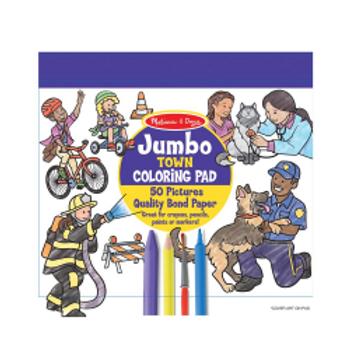 Town Coloring Pad - Jumbo