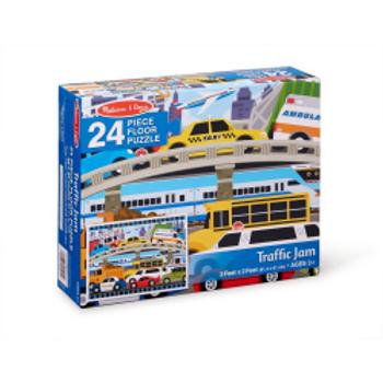 Traffic Jam Floor Puzzle (24 pieces)