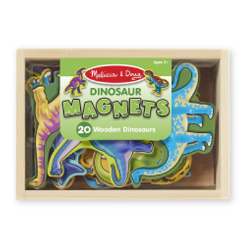 Wooden Dinosaur Magnets (20 pieces)