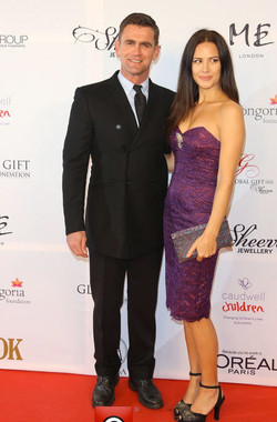 With Hubby at Charity do...