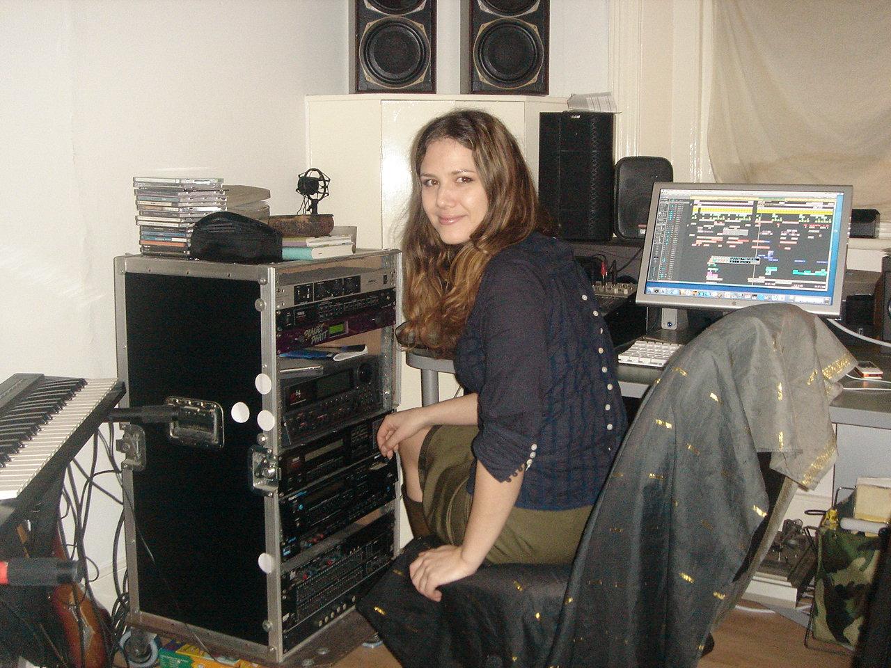In my studio...
