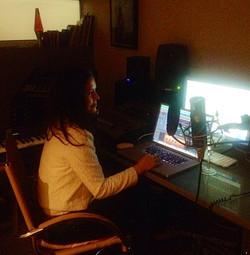 In my studio mixing!