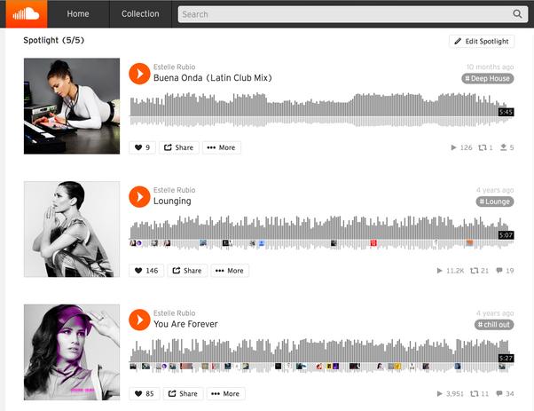 Soundcloud - Estelle Rubio