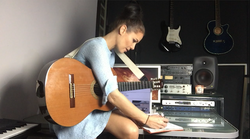 Writing new songs...in my studio