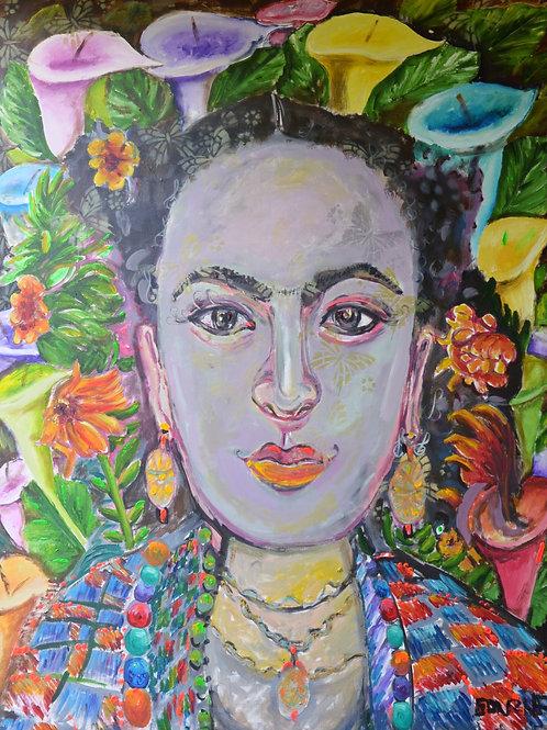 Frida with Calas