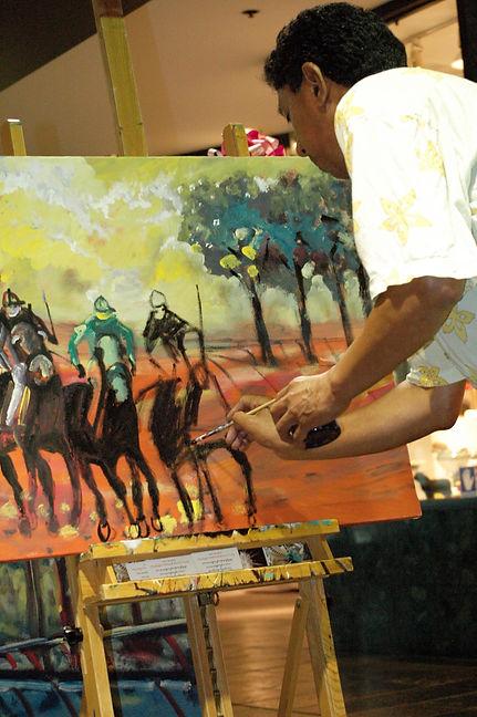 Enrique Gonzalez painting