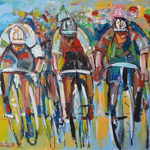 Cyclists Spring