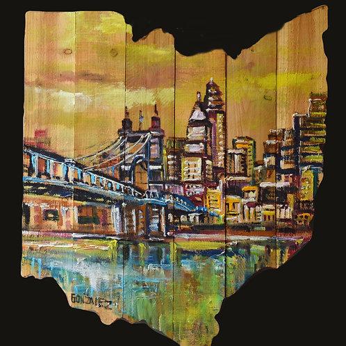 Cincinnati Map Cutout